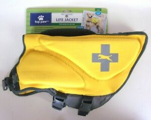 Neoprene Dog Life Jacket - TOP PAW - Sz L 55-85 lbs - Yellow - NO TAG !
