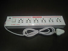 Metal Body Power Strip Extension Cord Multi 6+1 With free Fuse & Heavy Wire