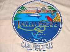 Vtg NOS CABO SAN LUCUS Baja Sur Latitude 22 Pocket L T-Shirt DEADSTOCK Sailing