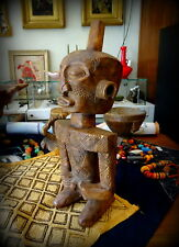An early to mid 20th C Buyu / Boyo Congo Rdc ancestor figure Africa Tribal Art