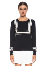 GORGEOUS Chloe Milano Navy Sailor Wool Sweater Sz small RRP $685