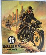 Blechschild Motorrad NSU KS Weltkrieg Motorrad Gefecht Bodentruppe