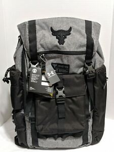 NWT Under Armour x Project Rock Vanish Regiment Backpack Gray Black 1325331 RARE