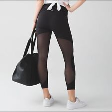 95c5338cc25c2 NWT size 8 Lululemon High Times *SE Minimalist High Rise Mesh Tight Pant  Black