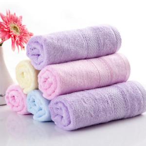 5pcs/set  33*72cm bamboo towel skin-friendly bamboo fiber face towel 5 colors