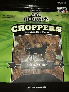 Redbarn Choppers Premium Dog Treat Beef Lung Chews for Dogs (9 Ounce Bag)