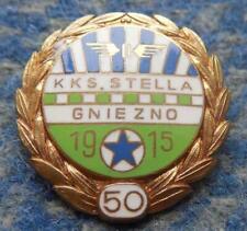 STELLA GNIEZNO 50 ANNIVERSARY (1915-1965) POLAND FOOTBALL SOCCER RARE PIN BADGE