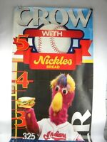 """Cleveland Indians Nickles Bread Chief Wahoo Poster From Stadium Slider 24"""" x 66"""