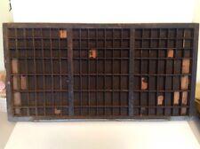 "Vtg Wooden Typeset Printing Block Letter Press Shadow Box Drawer Tray 32"""