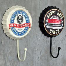 Retro Metal Sign Tin Beer Bottle Cap Cover Hook Pub Club Bar Cafe Home Wall Deco