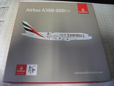 "Herpa 1:500 527897-001 Emirates Airbus a380 ""Cricket World Cup"" NUOVO OVP"