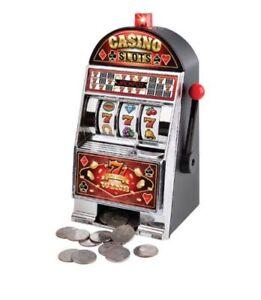Sharper Image Electronic Casino Coin Bank Novelty Slot Machine