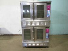 """LANG"" H.D. COMMERCIAL NATURAL GAS DIGITAL DOUBLE STACKED CONVECTION OVENS"