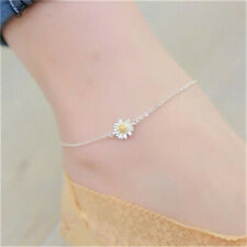 Feet Chain Jewelry Gift Women'S Fashion Silver Anklet Chrysanthemum