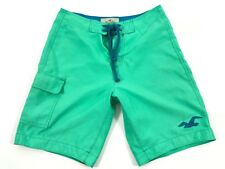 Hollister Men's Surfing Pale Green Shorts Size S