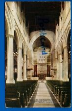 OLD POSTCARD INTERIOR HOLY TRINITY CHURCH EXMOUTH DEVON NR LYMPSTONE SIDMOUTH