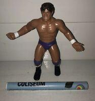 WWF LJN Wrestling Superstars Figure TITO SANTANA w/ POSTER! WWE Titan Sports VTG