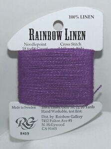 Rainbow Gallery Rainbow Linen 16/2 20 yards linen R409 purple
