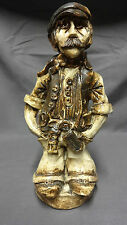 "Large & Heavy Unusual Welsh Studio Pottery 10.75"" Figure Of A Coal Miner"