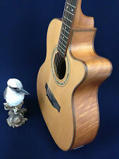 KLEMA Solid Cedar Top Electronic-Acoustic Guitar,Fishman EQ+Free Bag.K200JC-CE