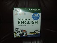 Little Pim NEW Let's Learn English Discovery Set with 3 DVDs & Panda #1 Language