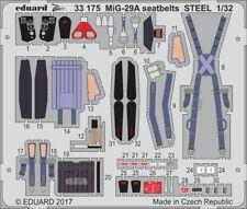 Eduard 1/32 Mikoyan MiG-29A cinturones de seguridad acero # 33175