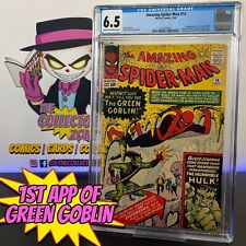 Amazing Spider-Man #14 CGC 6.5 1st appearance of the Green Goblin Spiderman 1964