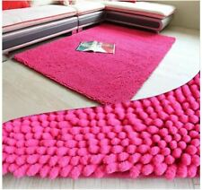 Long Chenille Fabric Anti-slip Mat Thick Floor Carpets for Living Room Bathroom