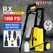 Electric Pressure Washer, 1950 PSI/1800w Power WILKS-USA RX510 ~Karcher Adapter~
