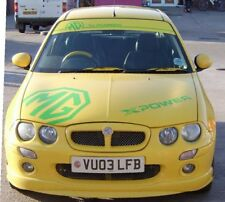 MG ZR ZS ZT bonnet and sunstrip sun screen decals stickers graphics xpower