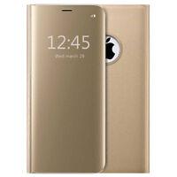Housse Etui, coque à clapet miroir translucide Or/gold pour Apple iPhone 7 Plus