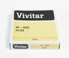 VIVITAR UV HAZE FILTER 58mm - USED