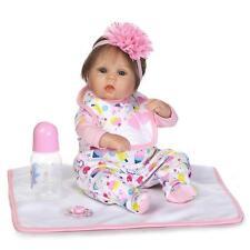 18''Handmade Lifelike Baby Girl Doll Silicone Vinyl Reborn Newborn Dolls+Clothes