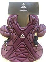 """Adidas Pro Series Catcher's Chest Protector 2.0 Maroon Size 16"""" S99092"""