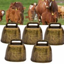5PC Cow Horse Sheep Grazing Copper Cattle Farm Animal Copper Loud Brass Bells US