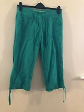 Dororthy Perkins green cropped pants size 12