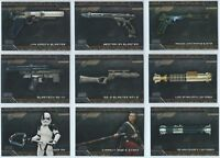 2018 Topps Star Wars Galactic Files Weapons Insert You Pick Finish Your Set