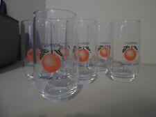 VINTAGE ANCHOR HOCKING FLORIDA JUICE GLASSES SET OF 6