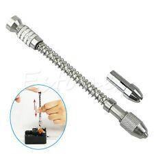 New Mini Pin Vise Wood Spiral Hand Push Drill Chuck Micro Twist Bit Jewelry Tool