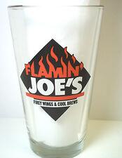 Pint Beer Glass Coors Light FLAMIN' JOE'S Firey Wings & Cool Brews