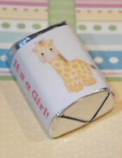 30 Baby Shower Its a Girl Giraffe Hershey Candy Nugget Wrappers Stickers