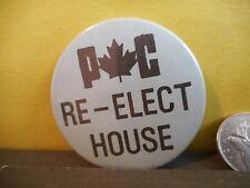 Newfoundland PC Campaign Button Pinback Canada Election Political,Re-Elect House