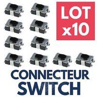 ►10 Switch pour Clé PEUGEOT ►Bouton Poussoir Interrupteur Plip Auto Télécommande