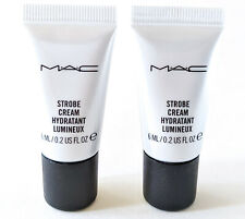 LOT/2 MAC Strobe Cream | PINKLITE | Travel Size .2oz/6ml each | NEW Fresh