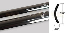 """Rub Rail 1"""" Stainless hollow-back Overlay .072"""" thick x 142.5"""" foot long"""