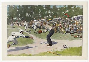 "Circa 1870's Baseball Print, Believed To Be Harper's Weekly Insert, 16"" x 20"""