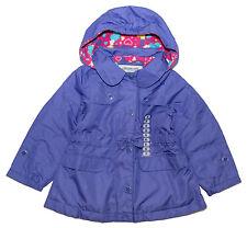 LONDON FOG Fleece-Lined Hooded Rain Jacket with Skirted Bottom 5Y
