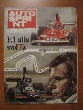 AUTOSPRINT 9/1975 - Rally Svezia / Daytona Race / Renault 30
