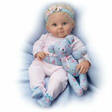 Ashton Drake - Lauren Baby Girl Doll with Poseable Teddy Bear by Ping Lau