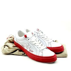 Converse One Star Ox x Golf Le Fleur White Red Leather Shoes Size 10 EU 44 UK 10